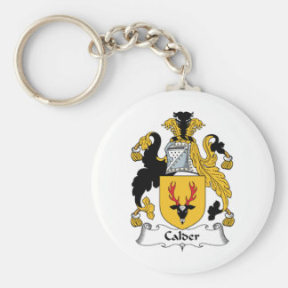 Calder Family Crest Key Ring