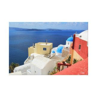 Caldera, Oia, Santorini, Greece Canvas Print