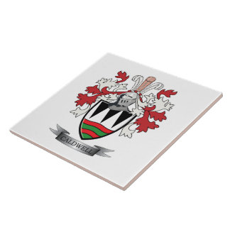 Caldwell Family Crest Coat of Arms Tile