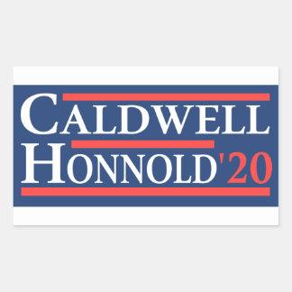 Caldwell Honnold 2020 Rectangular Sticker