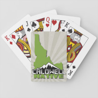 Caldwell Idaho Native Idahoan Hometown USA Playing Cards