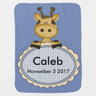 Caleb's Personalized Giraffe Baby Blanket