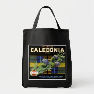 Caledonia Orange Label Grocery Tote Bag