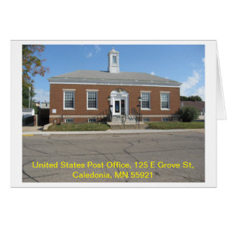Caledonia Post Office Card