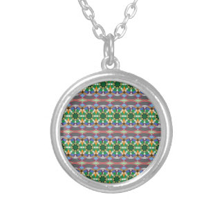 caledoscope four silver plated necklace