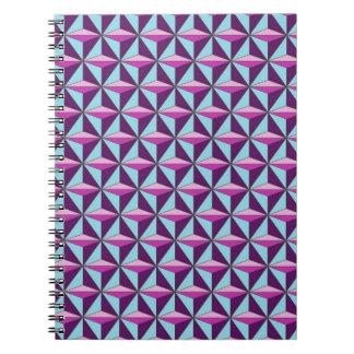 caledoscope three spiral notebook