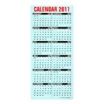 Calendar 2011 Rack Card Happy Holidays Snowman