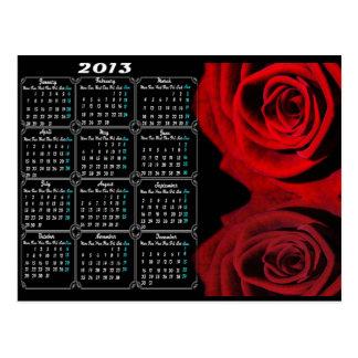 Calendar 2013 And Rose Post Card