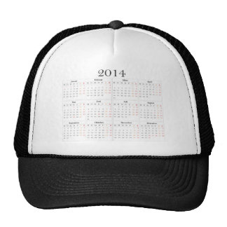 Calendar 2014 Germany Hats