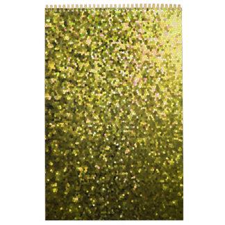 Calendar 2014 Gold Mosaic Sparkley Texture