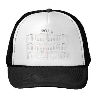 calendar 2014 Great Britain Hats
