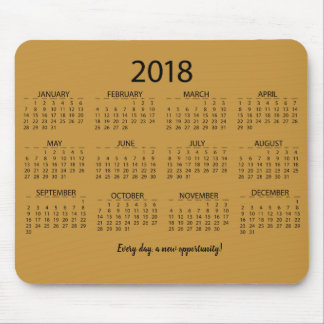 Calendar 2018 mouse pad