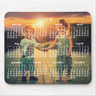 Calendar 2018 Mouse Pad Kids Photo