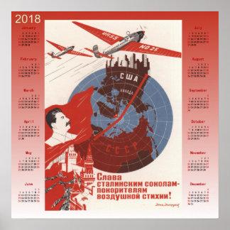 Calendar 2018 Soviet poster 1937