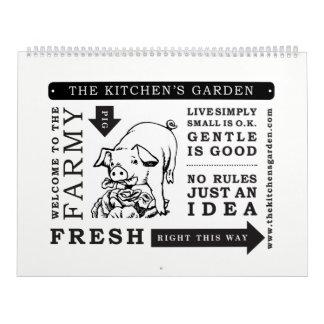 Calendar. 2018. The Kitchens Garden Farm Calendar