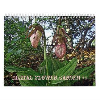 Calendar Digital Flower Garden #4