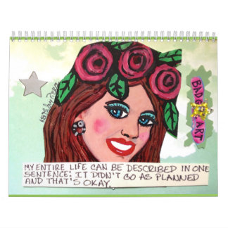 calendar FILLED WITH BAD GIRL ART