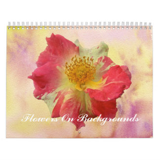 Calendar - Flowers On Backgrounds