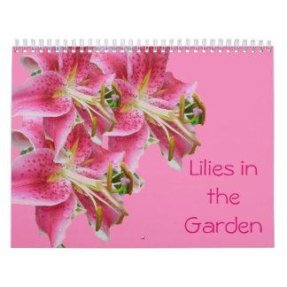 Calendar - Lilies in the Garden
