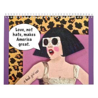 Calendar-love,not hate, makes wall calendar