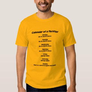 Calendar of a Thrifter Tee Shirt