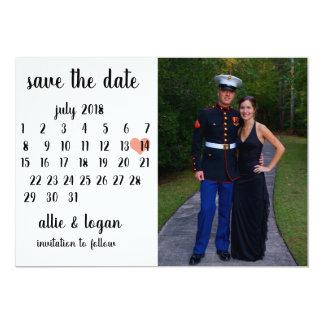 Calendar Photo Save the Date Card