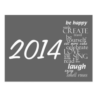 Calendar postcard 2014 - inspirational words
