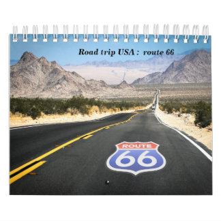 Calendar route 66 trip