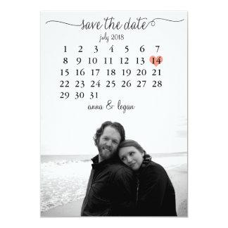 Calendar Save the Date Card