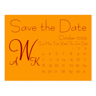 Calendar Save the date Postcard