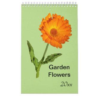 Calendar - single page - Garden Flowers