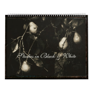 Calendar ~ Studies in Black & White