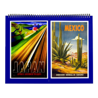 Calendar Vintage Travel Posters