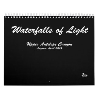 Calendar, Waterfalls of Light, Landscape Photos, Wall Calendar