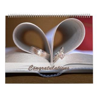 Calendar Wedding Congratulations Rings Large