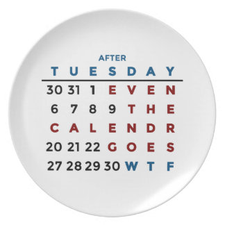 Calendar What The WTF Plate