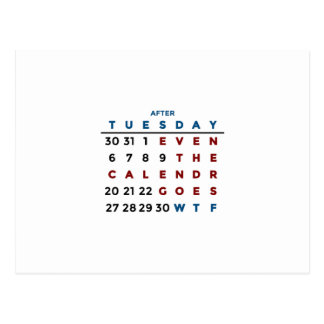 Calendar What The WTF Postcard