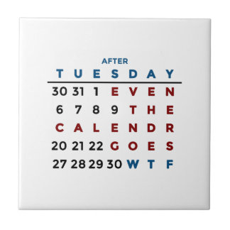 Calendar What The WTF Tile