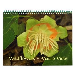 Calendar - Wildflowers - Macro View