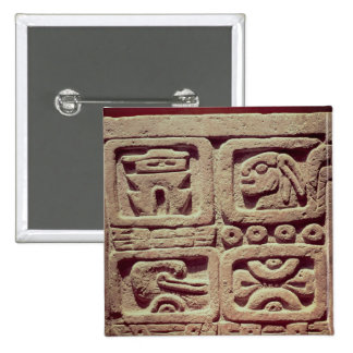 Calendar with four glyphs, Toltec 15 Cm Square Badge