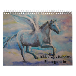 Calendar with painted pictures