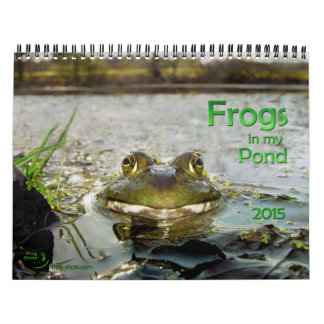 Calendar with pond frogs