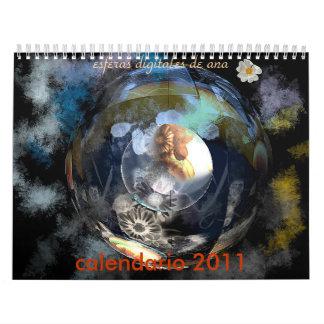 calendario 2011, esferas digital... wall calendars