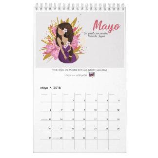 """Calendario 2018 """"Lupus Edition"""" Wall Calendar"""