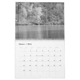 Calendario fotos de naturaleza en blanco y negro calendars