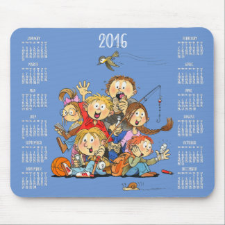 Calendars For Kids 2016 Blue Mouse Pads