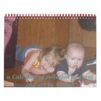 Calender full of family photos calendar