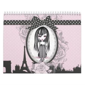 Calendrier éMo Romantik Gothik Paris Calendar