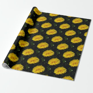 Calendula Gold Wrapping Paper