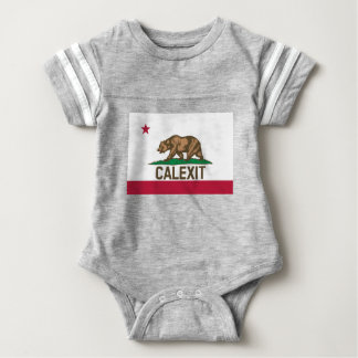 CALEXIT California Bear Flag Baby Bodysuit